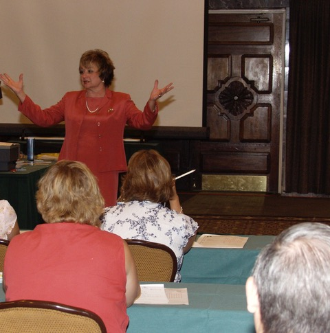 Nancy Harkins teaching at seminar